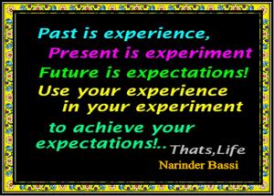 past-is-experience-present-is-experiment-future-is-expectations-use-your-experience-in-your-experiment-to-achieve-your-expectations